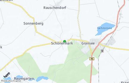 Stadtplan Schönermark (Land Ruppin)