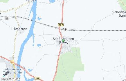 Stadtplan Schönhausen (Elbe)
