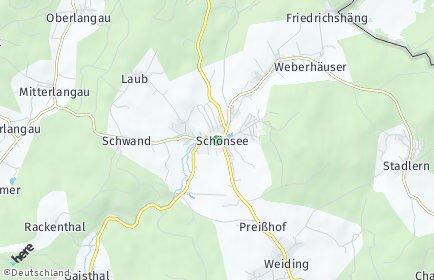 Stadtplan Schönsee