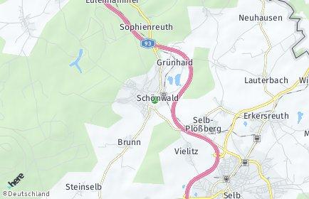 Stadtplan Schönwald (Bayern)