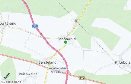 Stadtplan Schönwald (Brandenburg)