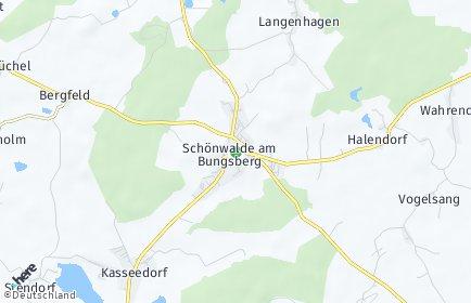 Stadtplan Schönwalde am Bungsberg