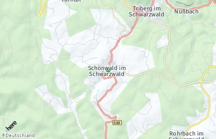 Stadtplan Schönwald im Schwarzwald