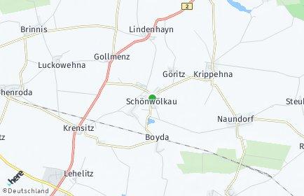Stadtplan Schönwölkau