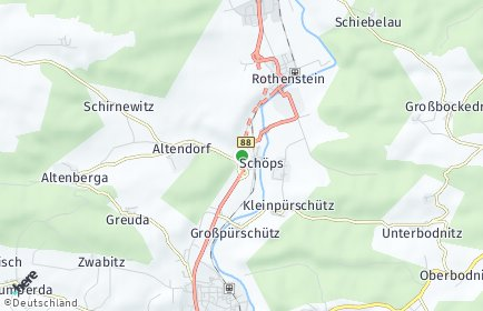 Stadtplan Schöps (Thüringen)