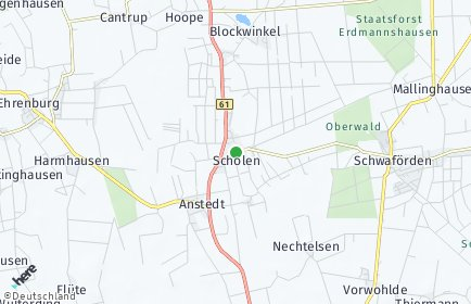 Stadtplan Scholen