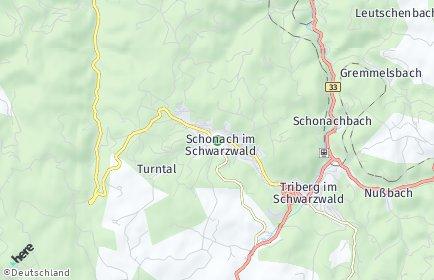 Stadtplan Schonach im Schwarzwald
