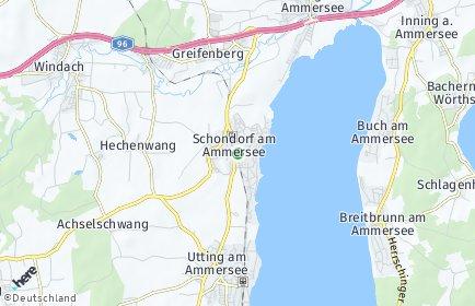 Stadtplan Schondorf am Ammersee