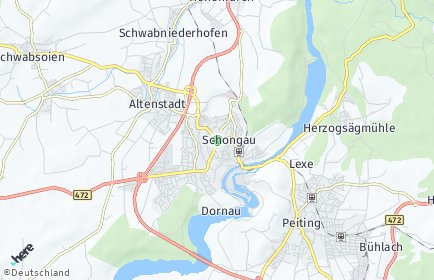 Stadtplan Schongau