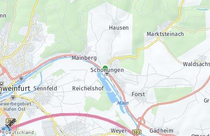 Stadtplan Schonungen