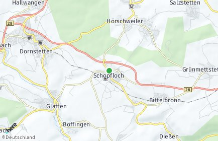 Stadtplan Schopfloch (Schwarzwald)