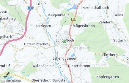 Stadtplan Schopfloch (Mittelfranken)