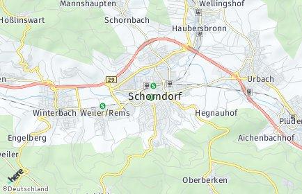Stadtplan Schorndorf