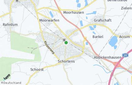 Stadtplan Schortens