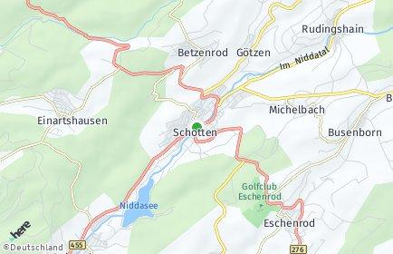 Stadtplan Schotten