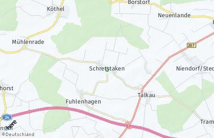 Stadtplan Schretstaken
