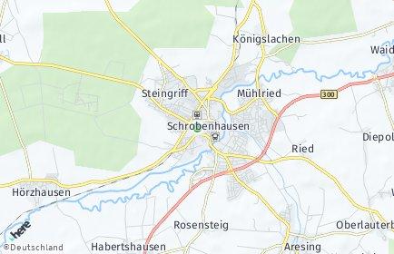 Stadtplan Schrobenhausen