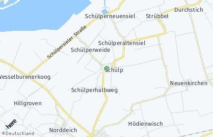 Stadtplan Schülp (Dithmarschen)