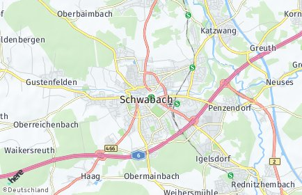 Stadtplan Schwabach
