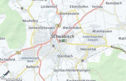 Plz Schwabisch Hall Postleitzahl Baden Wurttemberg Deutschland
