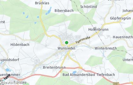 Stadtplan Wunsiedel im Fichtelgebirge