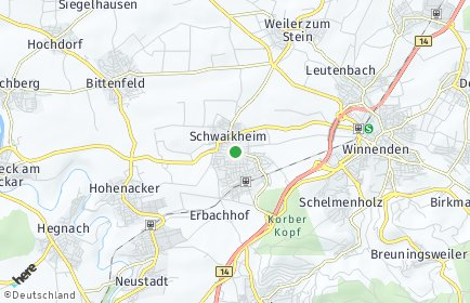 Stadtplan Schwaikheim