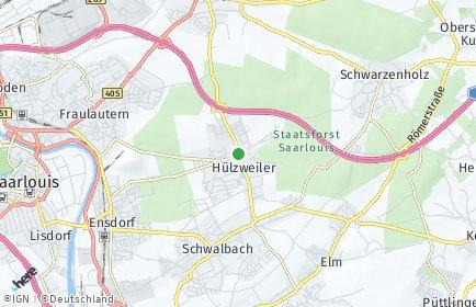 Stadtplan Schwalbach (Saar)