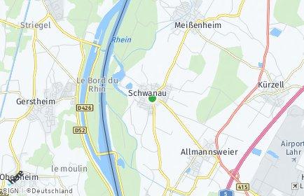 Stadtplan Schwanau