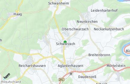 Stadtplan Schwarzach (Odenwald)