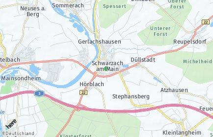 Stadtplan Schwarzach am Main