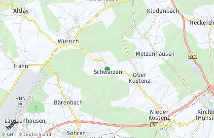 Stadtplan Schwarzen