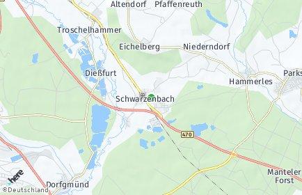 Stadtplan Schwarzenbach (Oberpfalz)