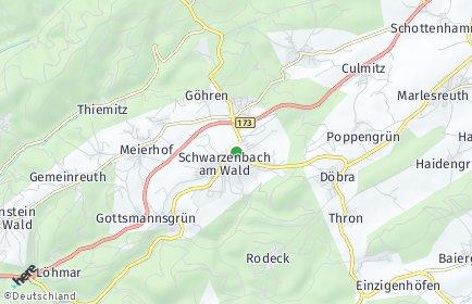 Stadtplan Schwarzenbach am Wald