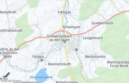 Stadtplan Schwarzenbach an der Saale