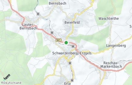Stadtplan Schwarzenberg/Erzgebirge