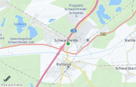 Stadtplan Schwarzheide