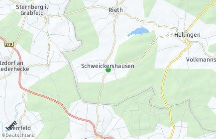 Stadtplan Schweickershausen
