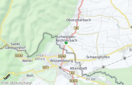 Stadtplan Schweigen-Rechtenbach