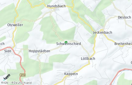 Stadtplan Schweinschied