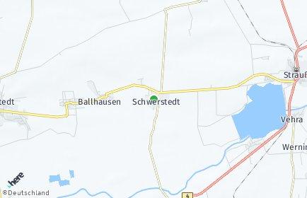 Stadtplan Schwerstedt bei Straußfurt