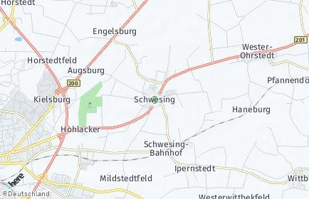 Stadtplan Schwesing