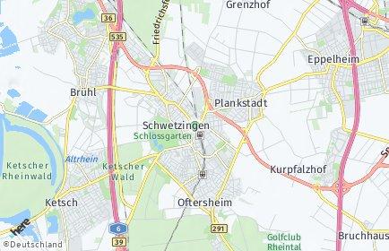 Stadtplan Schwetzingen