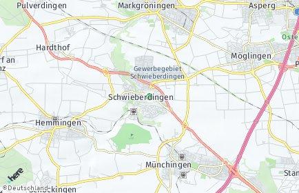 Stadtplan Schwieberdingen OT Hardthof