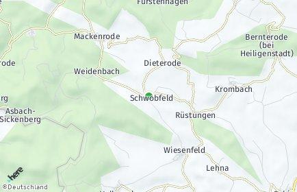 Stadtplan Schwobfeld