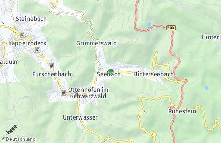 Stadtplan Seebach (Baden)