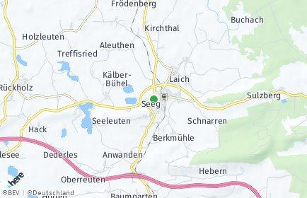 Stadtplan Seeg