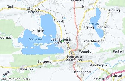 Stadtplan Seehausen am Staffelsee