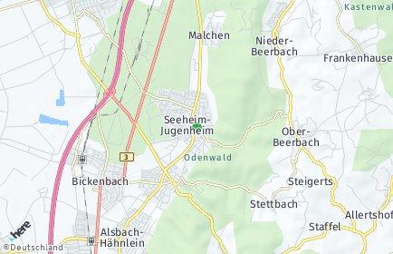 Stadtplan Seeheim-Jugenheim