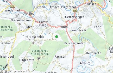 Stadtplan Seelbach bei Hamm (Sieg)