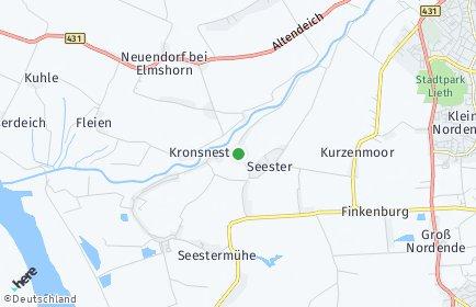 Stadtplan Seester